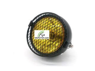 Đèn pha moto Sắt Lưới bảo vệ