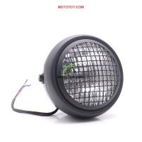 Pha đèn Môtô lưới bảo vệ sọc Caro