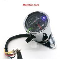 Đồng hồ km moto có bóng xi mạ 02