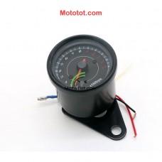 Đồng hồ tua máy moto có bóng 02