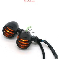 Đèn xi nhan Nhôm hột vịt lưới sọc kiểu Harkey K16